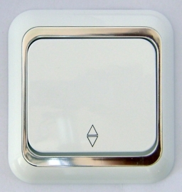 Wisselschakelaar ,Wit/Zilver