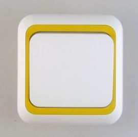 Schakelaar met geel rand  (compleet)