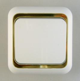 Schakelaar  wit / Goud (  compleet )