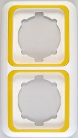 Tweevoudig afdekraam  wit /Geel