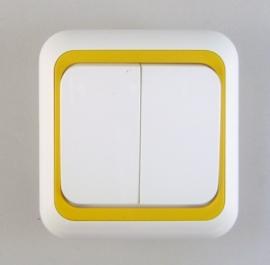 Dubbel pol  ( Kruis) schakelaar  (compleet)