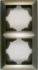 Tweevoudig afdekraam  /zilver