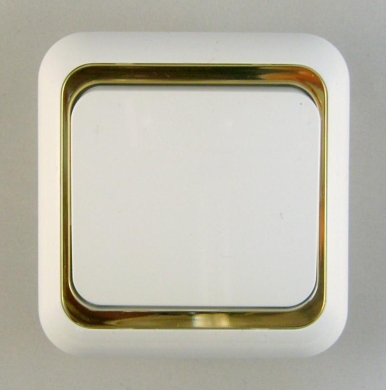 Schakelaar met goud rand x  (compleet)