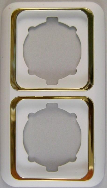 Tweevoudig afdekraam wit /goud x
