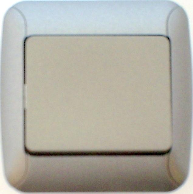 Schakelaar in in zilver  (compleet)