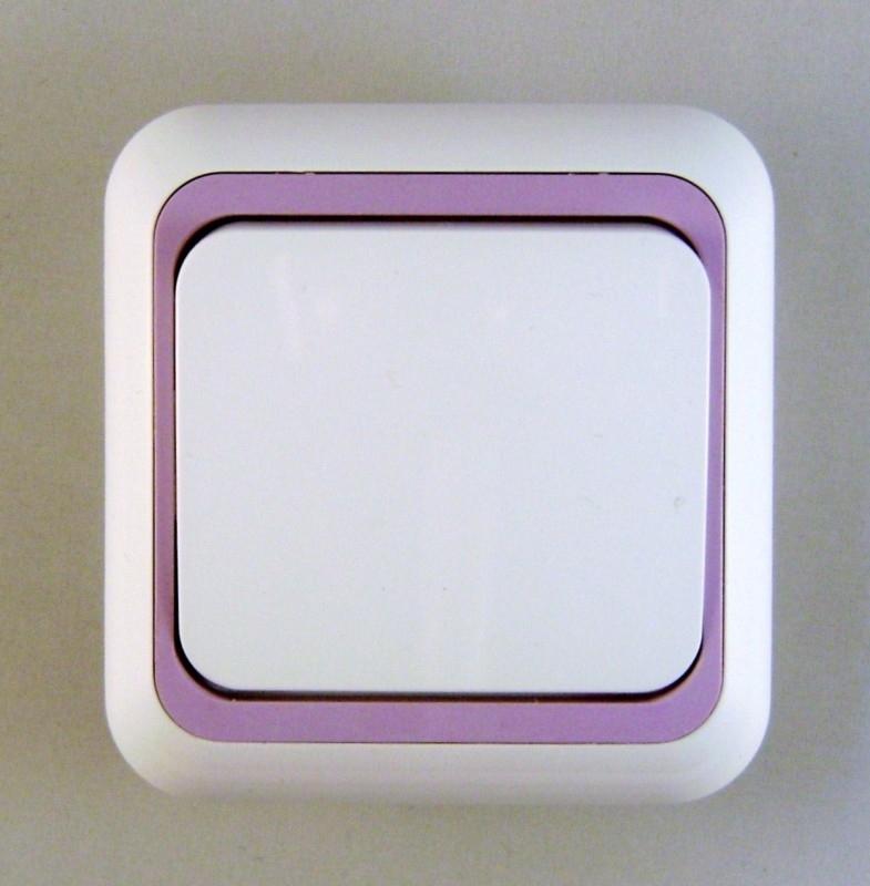 Schakelaar met lila rand  (compleet)