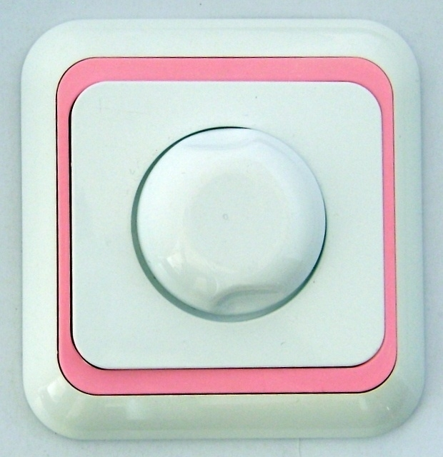 Dimmer wit / roze rand  (compleet)