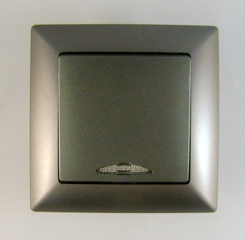Schakelaar / Donker Zilver  (compleet)