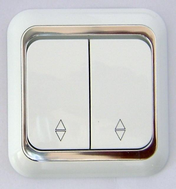 Wisselschakelaar ,( Kruis) 2x knoppen