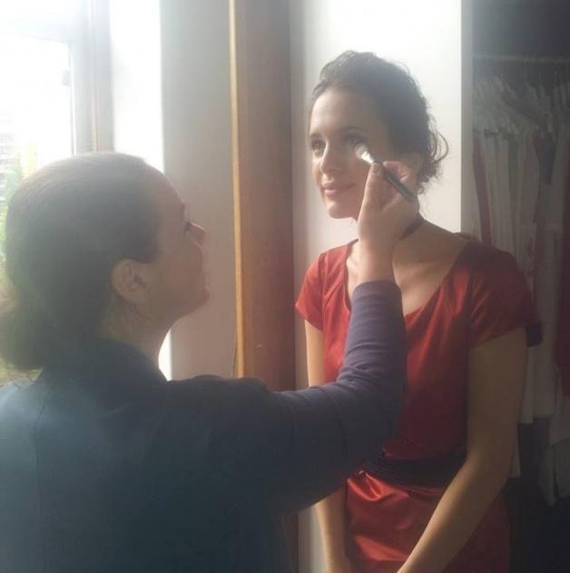 visagie - marlou Limburg heerlen aan het werk make-up fotoshoot magazine Magriet