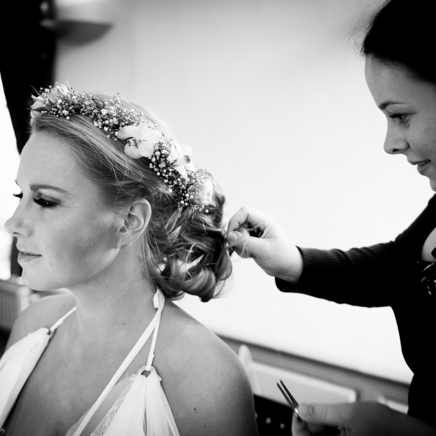 bruidskapsel en bruidsmake-up wedding shoot limburg