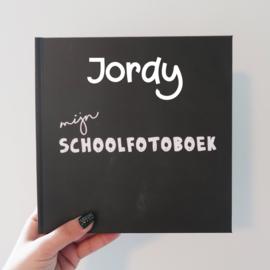 Schoolfotoboek met naam  - krijtbord