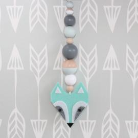 Hanger wasbeer mint-grijs