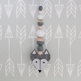 Hanger vos grijs