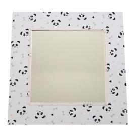 Spiegel panda's lichtroze