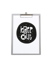 Poster A4 Keep Out - Met klembord