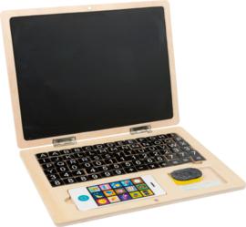 Houten laptop met magnetisch scherm