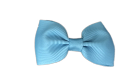 Haarstrik Turkooisblauw - 6,5 cm - Kids-Ware