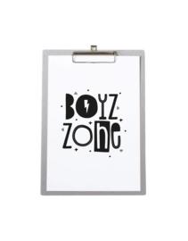 Poster A4 Boyz Zone - Met klembord