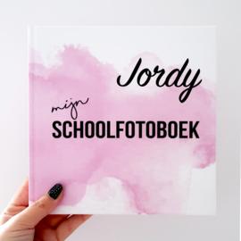Schoolfotoboek met naam - Roze