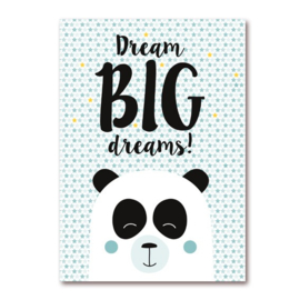 Dream Big Dreams - Panda Jongens poster
