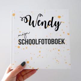 Schoolfotoboek met naam - Oker