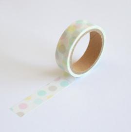 Masking tape dots pastel