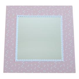 Spiegel triangle lichtroze