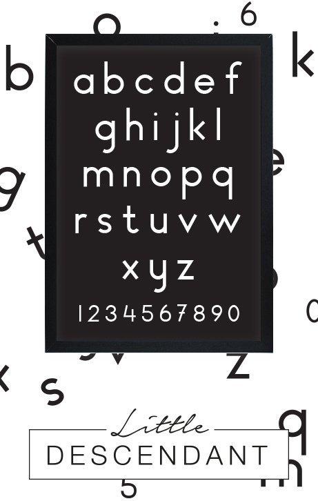 Alfabet poster kinderkamer