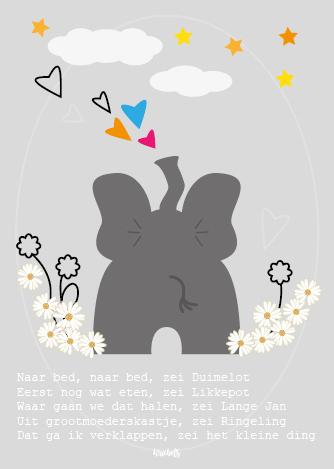 Poster babykamer Olifant
