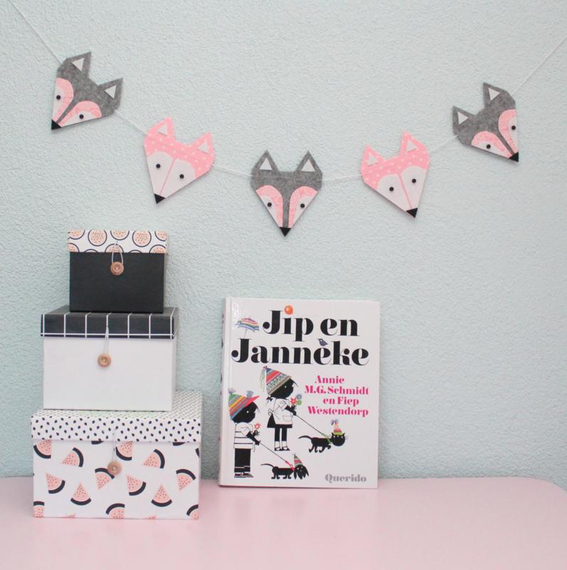Slinger Kinderkamer, Vossen, Roze met Grijs
