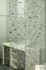Glaskralengordijn | zwart-wit