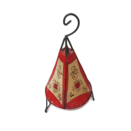 Hennalamp S - naturel/rood | alhambra