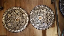 Marokkaanse waskommen - 40 cm | Zwart wit | Gereserveerd Roel