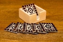 Onderzetters glasmozaiek - paars