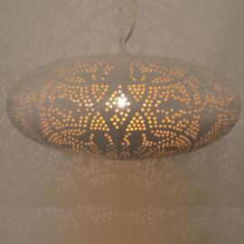Hanglamp filigrain - ufo | wit goud
