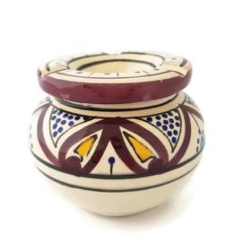 Asbak Safi L  - wit/paars
