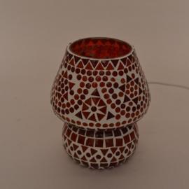 Schemerlamp - Glasmozaiek | rood