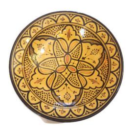 Marokkaans bord L - Oker