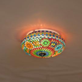 Plafonnière S - Glasmozaiek | multicolor