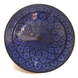 Marokkaans bord L - Touareg blue