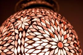 Hanglamp - Papaja | Glasmozaiek | Paars