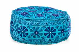 Kashmir - poef   Blauw