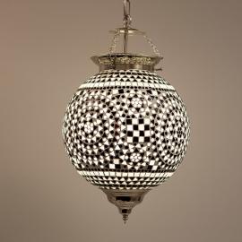 Hanglamp L - zwart/wit
