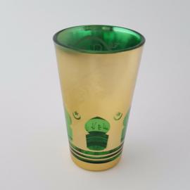 Marokkaans theeglas | Mina - groen/goud