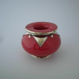 Marokkaanse asbak Sahara L - rood/zilver