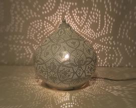 Tafellamp filigrain - groot | wit goud