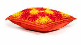 Ibiza Flowers - sierkussen | Oranje