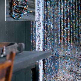 Glaskralengordijn | multicolor