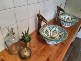 Marokkaanse waskommen in aqua groen